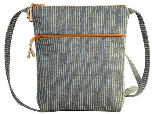 Light Blue/White Stripe Bag