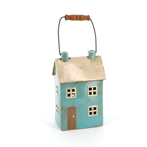 Blue Cottage Lantern