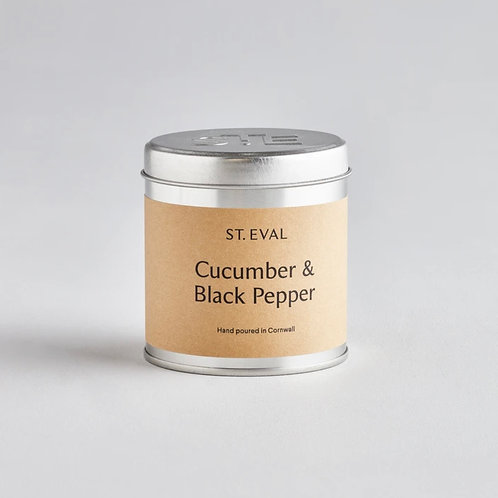 Cucumber & Black Pepper Tin Candle