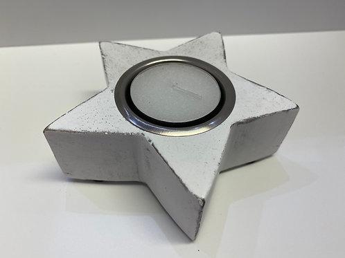 Star Tealight Holder (Small White)