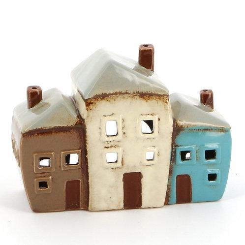 Three Cottage Tealight Holder