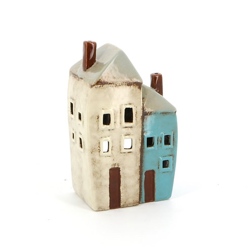 Two House Tealight Holder
