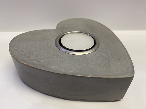 Heart Tealight Holder (Large Grey)