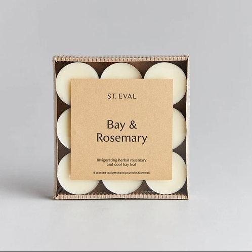 Bay & Rosemary Tealights (Set of 9)