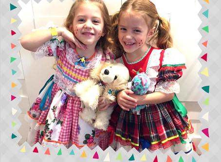 Festa junina em casa - Maquiagem infantil