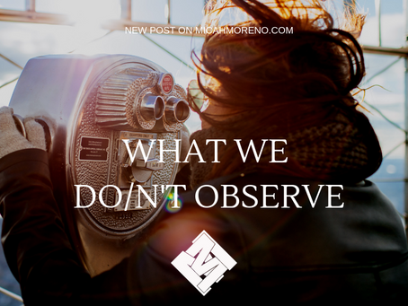 What we do/n't observe