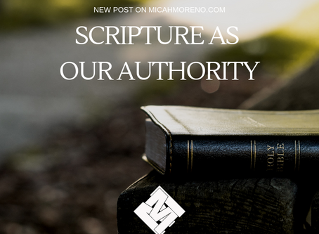 Scripture as our Authority