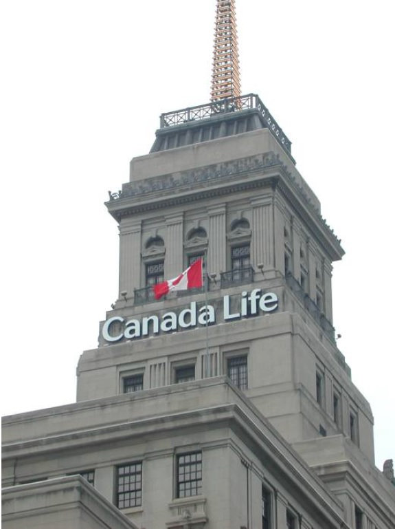 Channel Letters - Canada Life, Toronto O