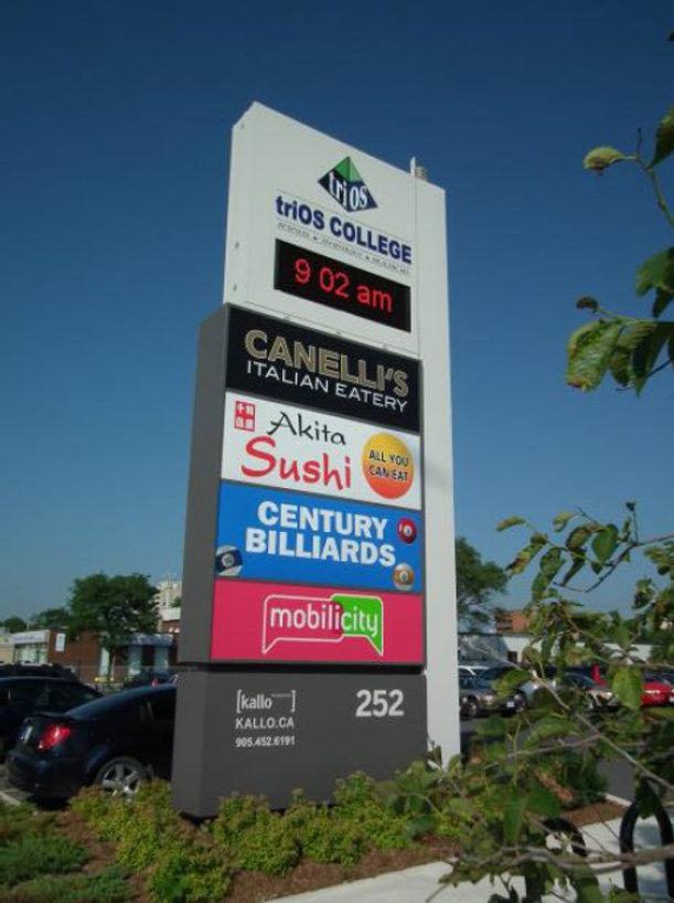 Pylon - LED Message - triOS College, Brampton Ontario, Canada