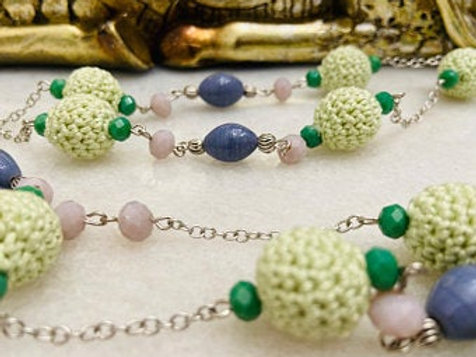 Handcrafted crochet Boho long neck chain