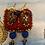 Thumbnail: Tibetan inspired, Indian Textile, crochet earings