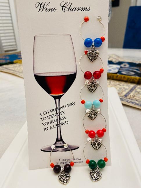 Wine Glass Charms Set of 6