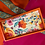 Thumbnail: Hand painted textile, wooden decorative tray