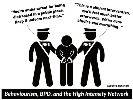 Behaviourism, BPD, and the High Intensity Network