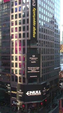 Logo in Times Square - NY