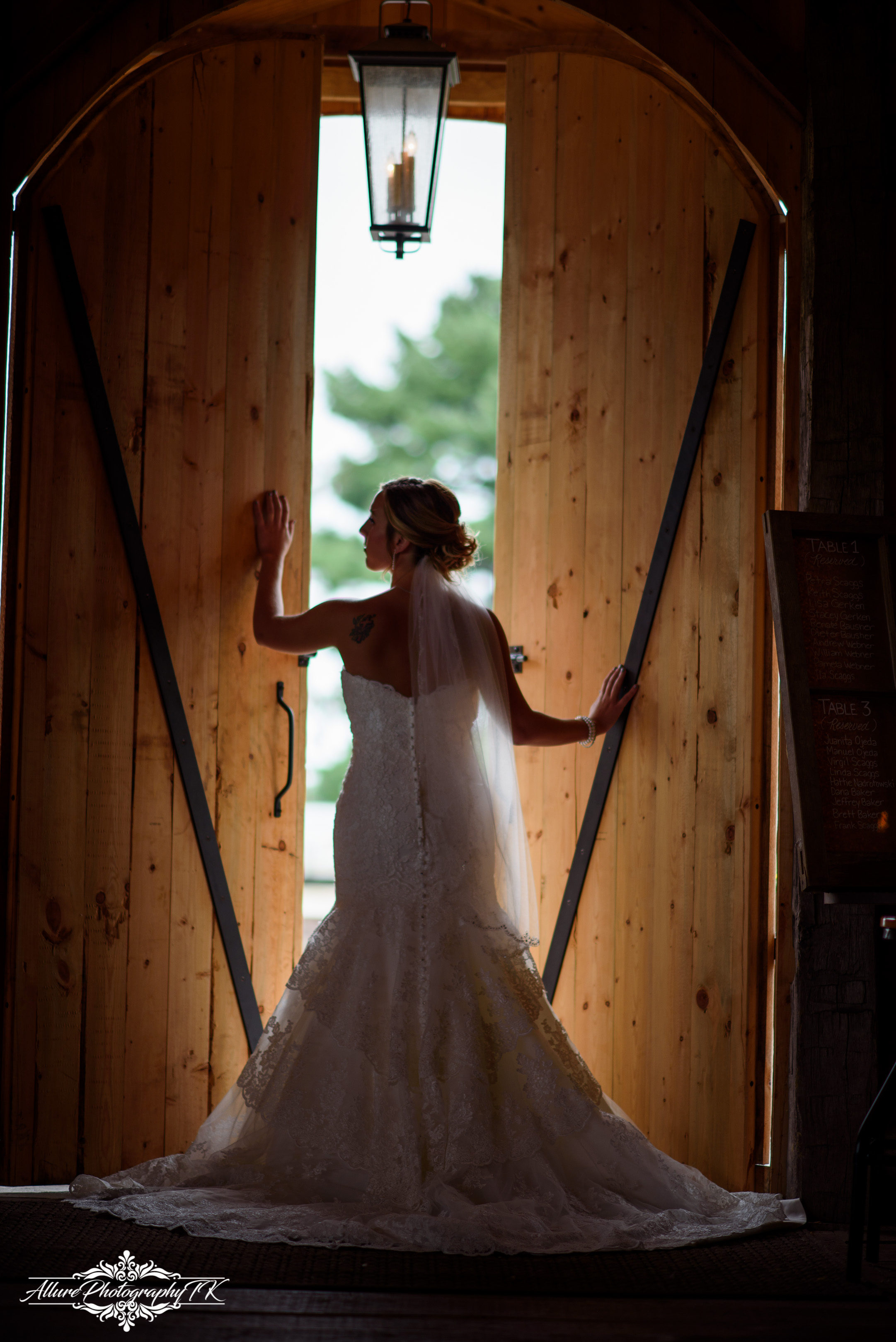 Bride wedding at the Barn