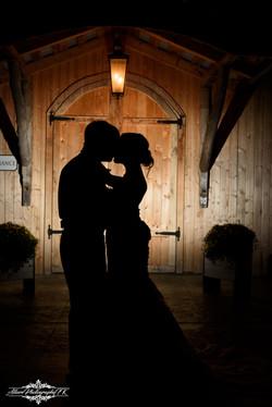 Wedding couple at night