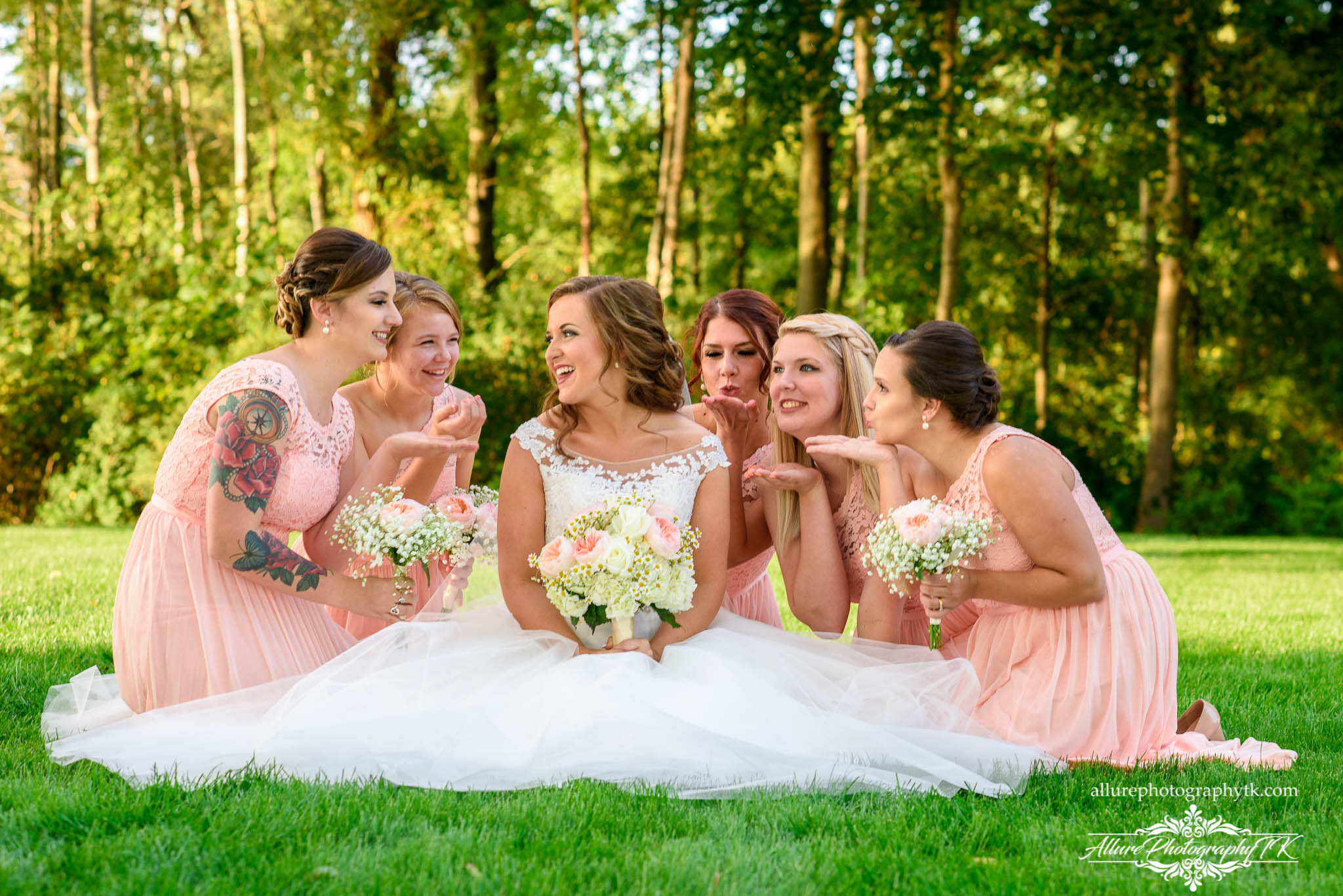 Bride with Bridesmaids Cleveland