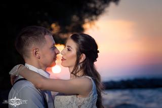 Cleveland Erie Wedding Sunset