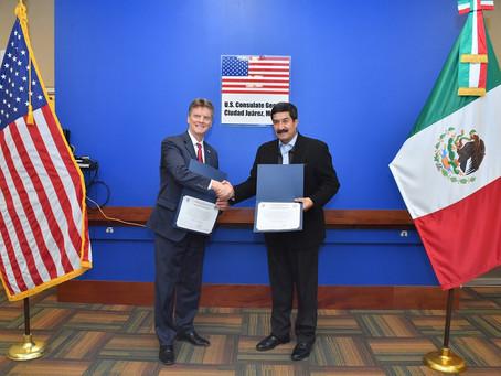 Firman Gobierno de Chihuahua y Consulado de EU Memorándum de Entendimiento