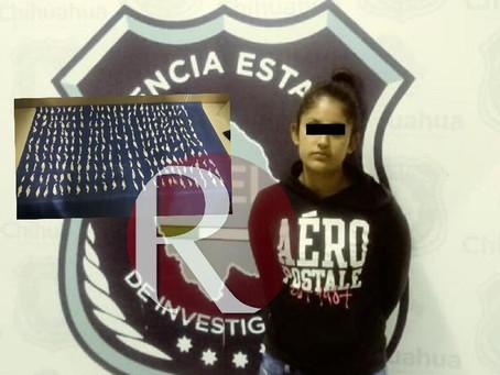 Mujer es detenida en Madera con 250 dosis de droga