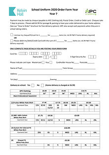 School Uniform 2020 Order Form Year 7-1.