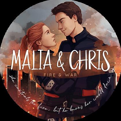 Buchkerze »Malia & Chris«