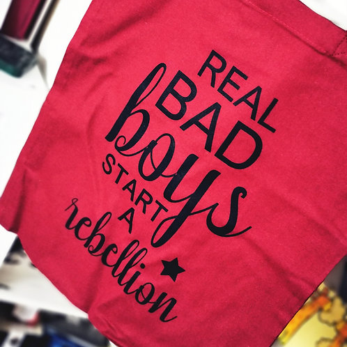 """""""Real bad boys""""-Jutebeutel"""