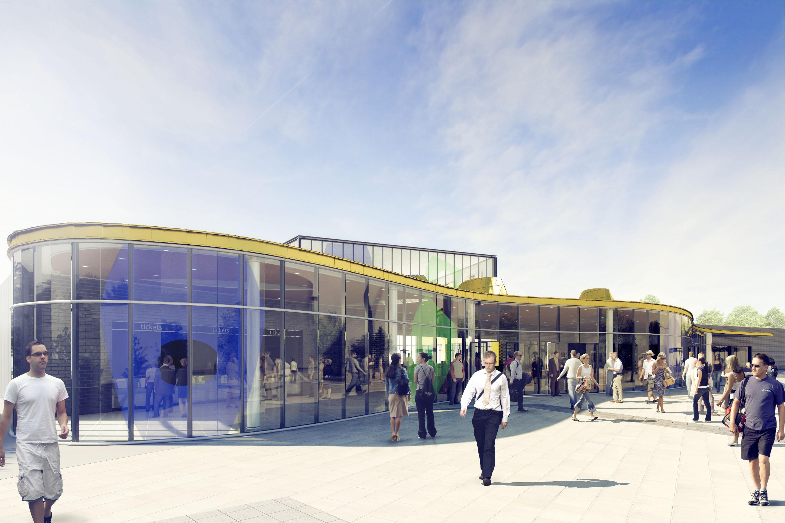 Wakefield Train Station Main Entrance