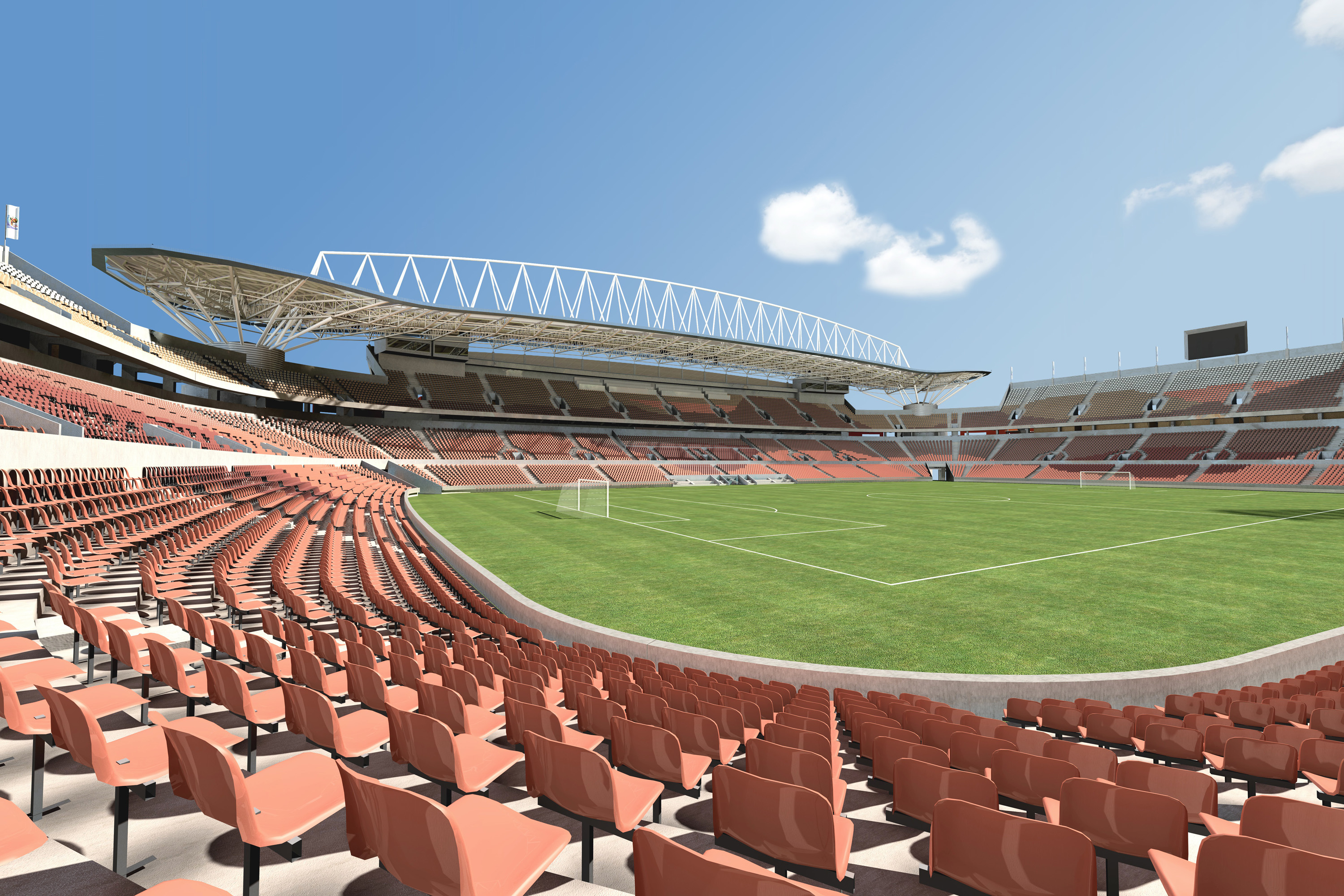 Mokaba Stadium 3D South Africa