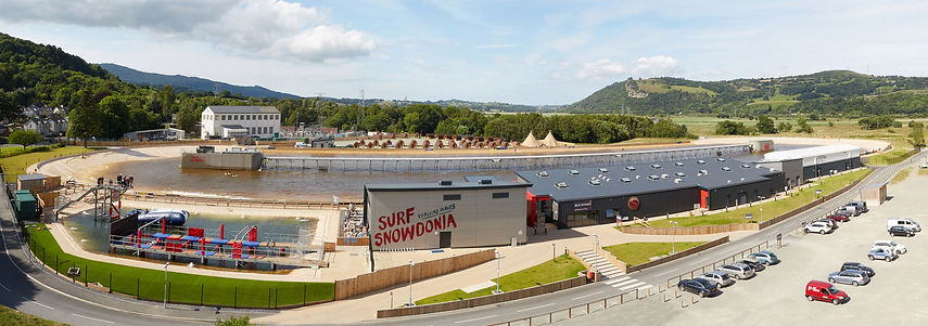 Surf Snowdonia Aerial Photograph
