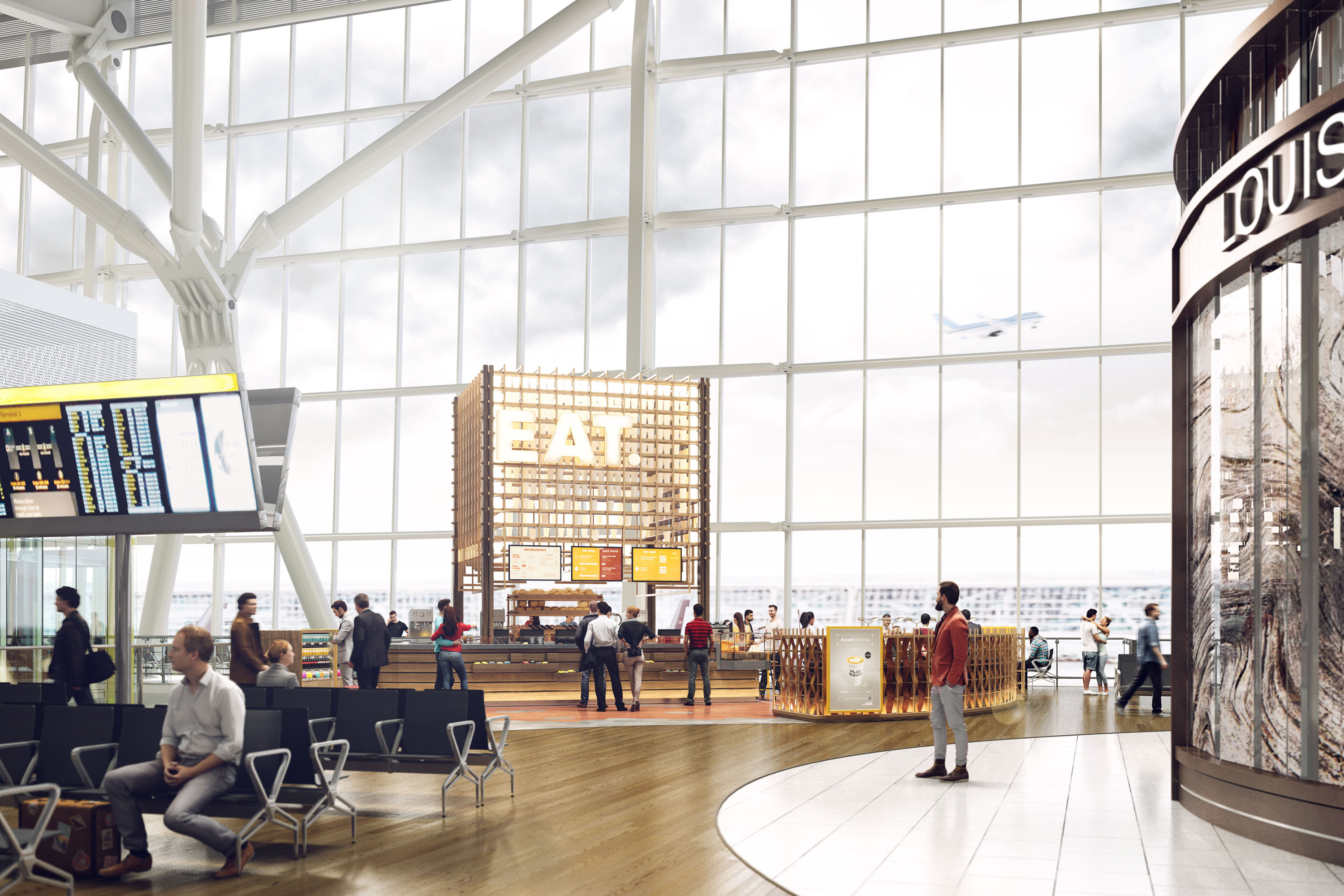 Eat Airport Interior 3D