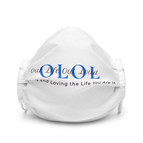 Premium White Face Mask with OLOL Logo