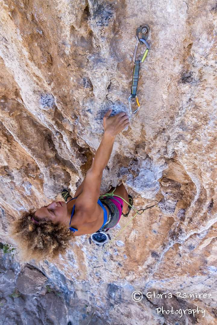 Kalymnos, Sector: Panorama / Route: Lulu in the sky 7a+ / Photo by: Gloria Patricia Raminez
