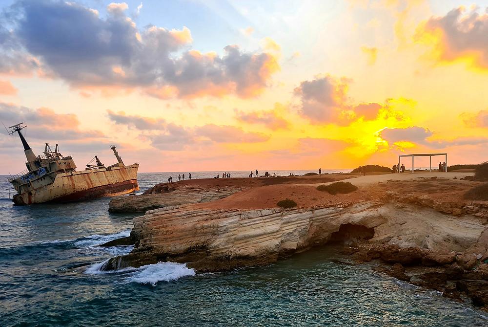 The Edro III shipwreck in Pegeia