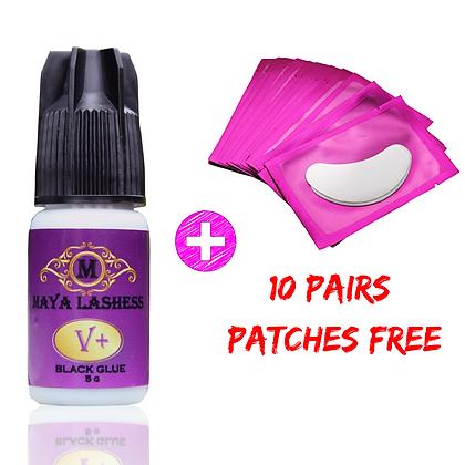 V+ Eyelash Extension Glue + 10 Patches