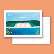Carte postale pour un espace visiteurs