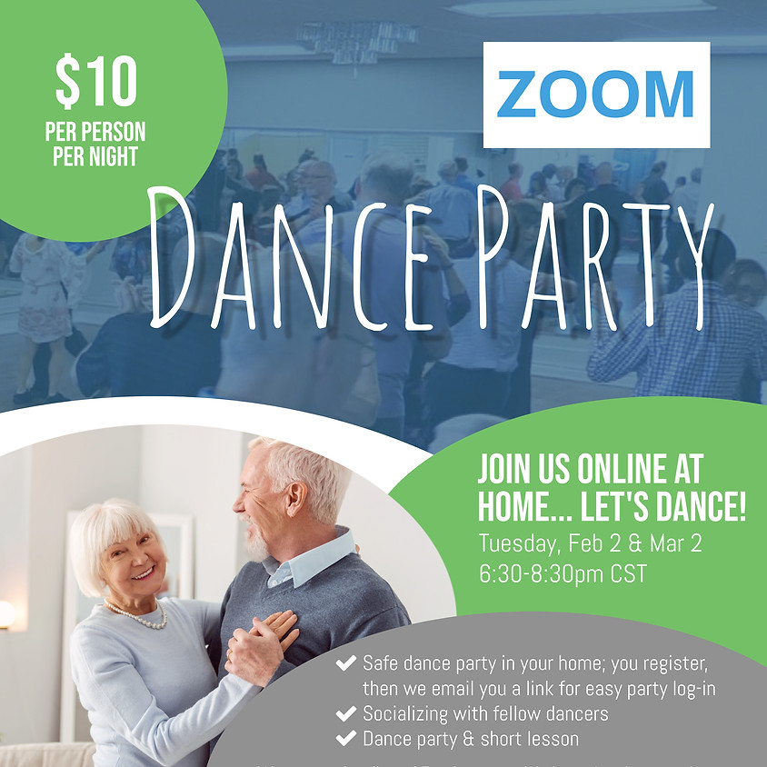 February 2 ZOOM Dance Party