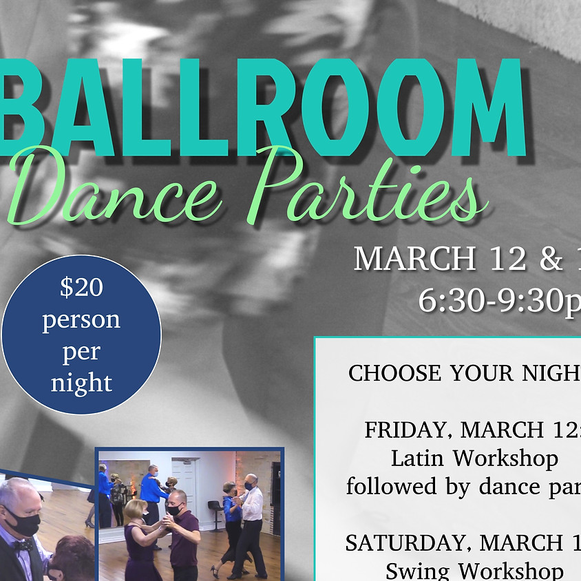 Saturday March 13 Dance Party w/Swing Workshop