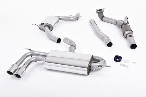 Audi A3 1.8 TSI 2WD Turbo-back Exhaust including Hi-Flow Sports Cat SSXAU260