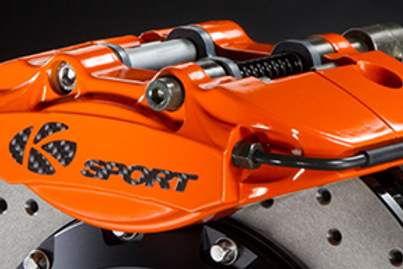 K Sport Rear Brake Kit: 304mm 2 pot calipers