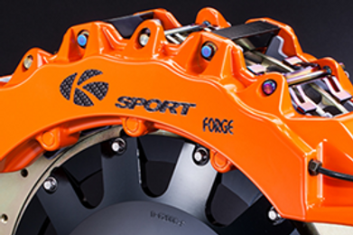 K Sport Front Brake Kit: 444mm Super 12 pot 12 pad calipers with floating rotors