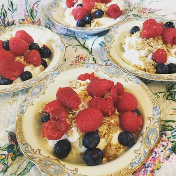Locally made yogurt with berries