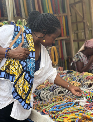 Williams at The Koforidua Beads and Craft Market