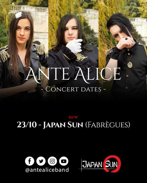 Concert à Japan Sun le 23 Octobre !