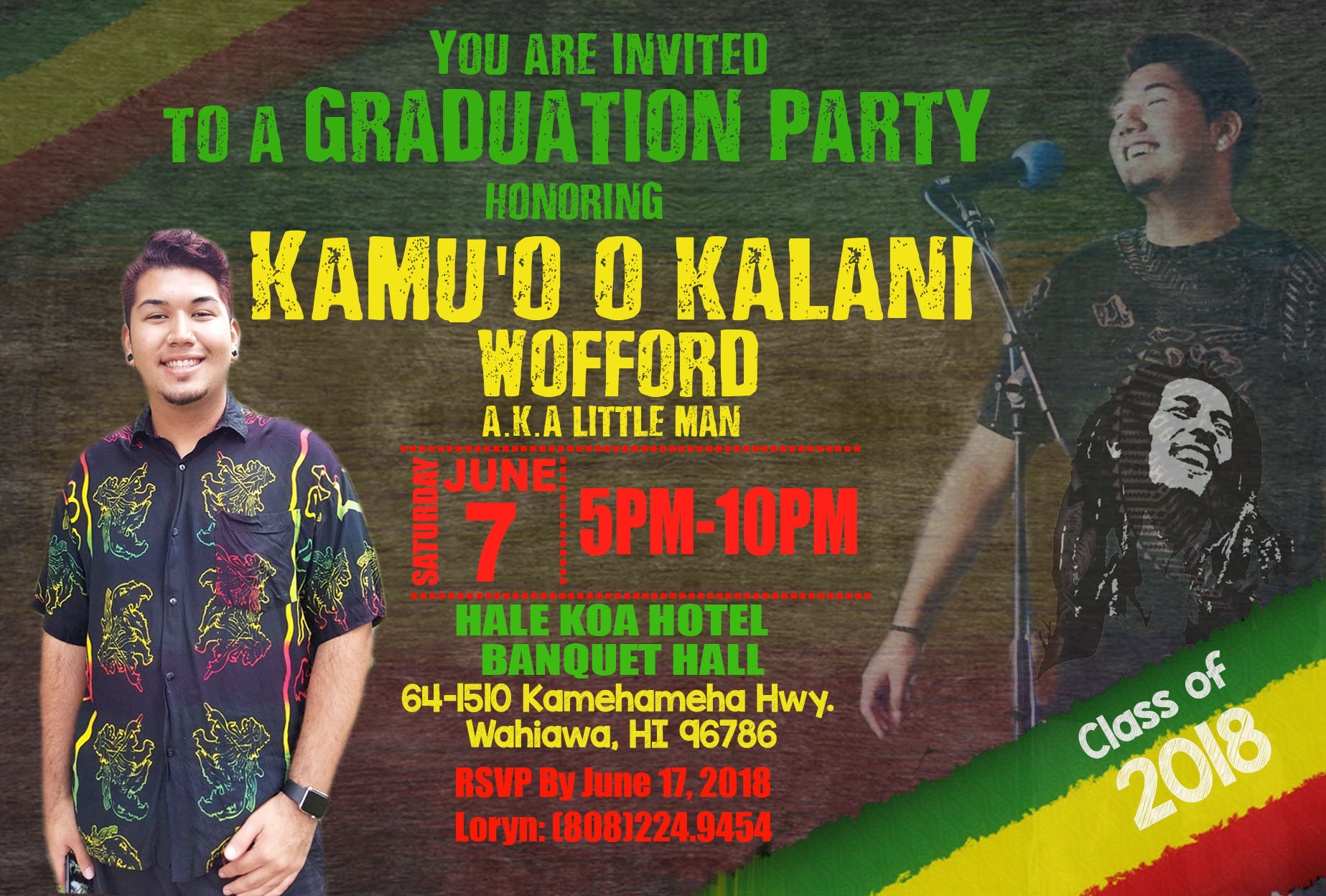 reggae invitation