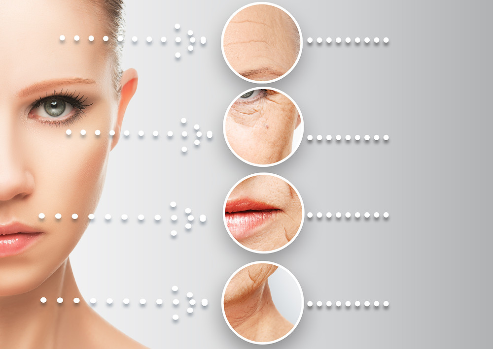 Beauty Concept Skin Aging. Anti-aging Procedures, Rejuvenation, Lifting, Tighten