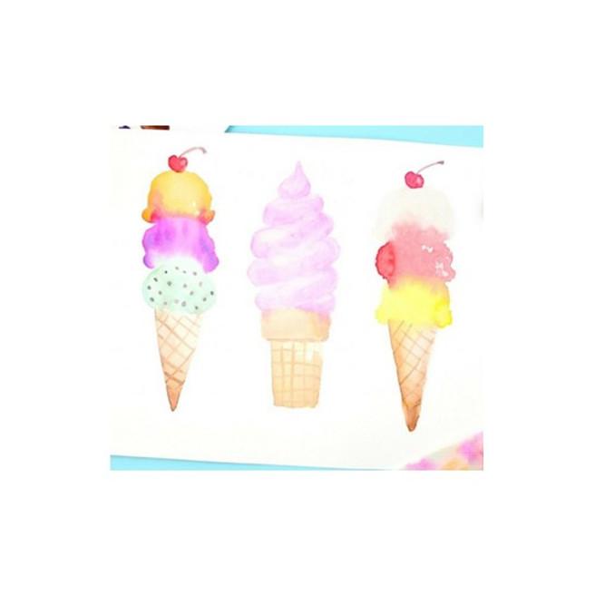 Beginner Watercolor: ice cream