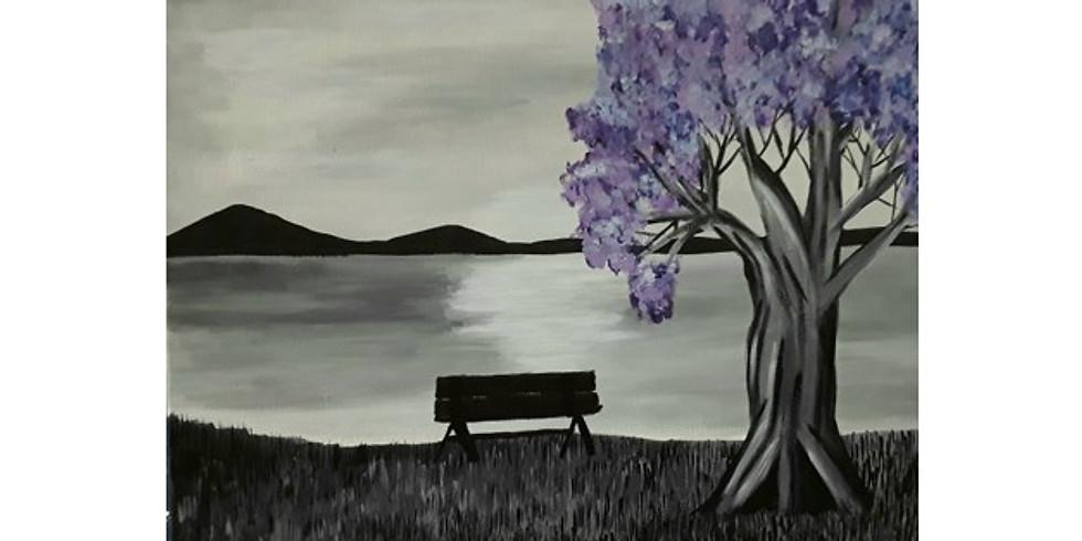 Sip & Paint, Purple Tree