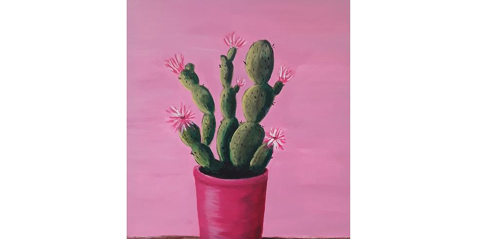 Cactus Bloom Sip & Paint